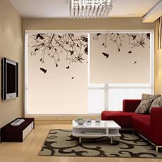Israel double layers roller blind coating flame retardant roller blinds for hotel