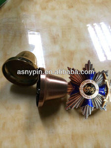 Custom Tourist Collectible Souvenir Metal Hand Bell with badge