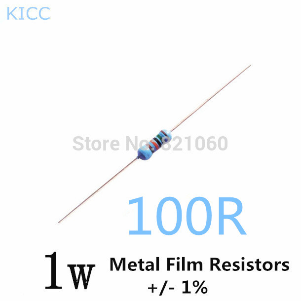 1w 100 Ohm 1 Metal Film Resistor 1w 100r 200pcs Lot