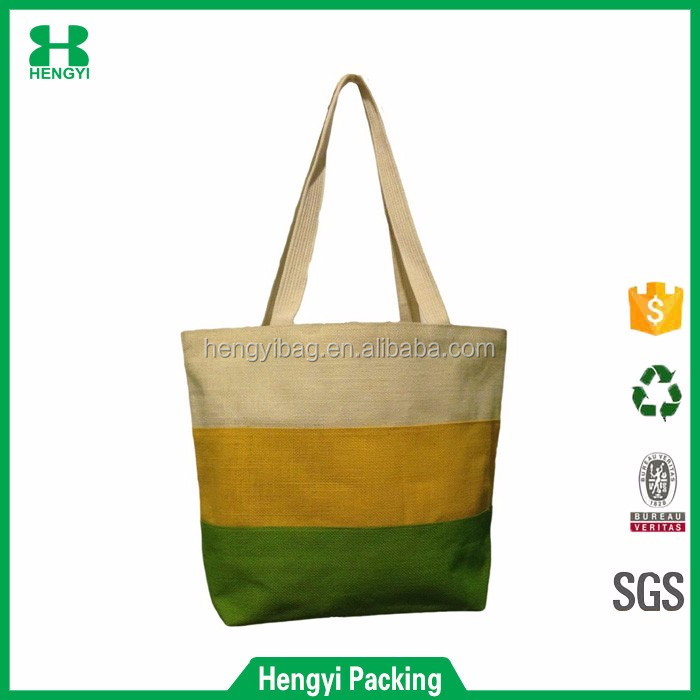 Wenzhou factory new trendy modern design jute tote shopping bag for girls christmas gift