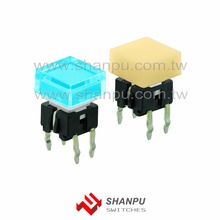 Taiwan DIP/ SMD LED Illuminated Tact Switch for Switcher Studio Equipment Machine Interface
