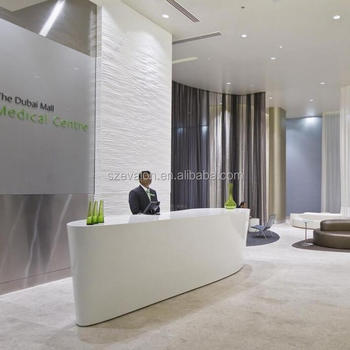 Reception Desk Display Case Modern Clinic Reception Desk