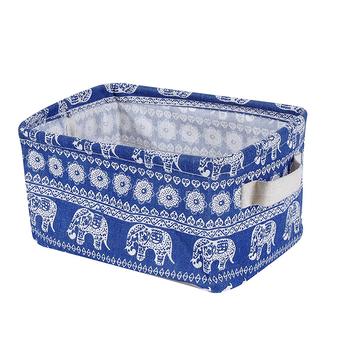 Small Elephant Oxford Fabric Collapsible Organizer Bin Basket Toys Storage  Bin