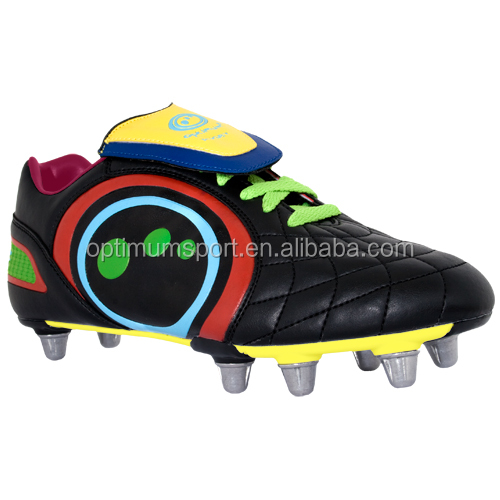 colorful rugby shoes football boots soccer shoes