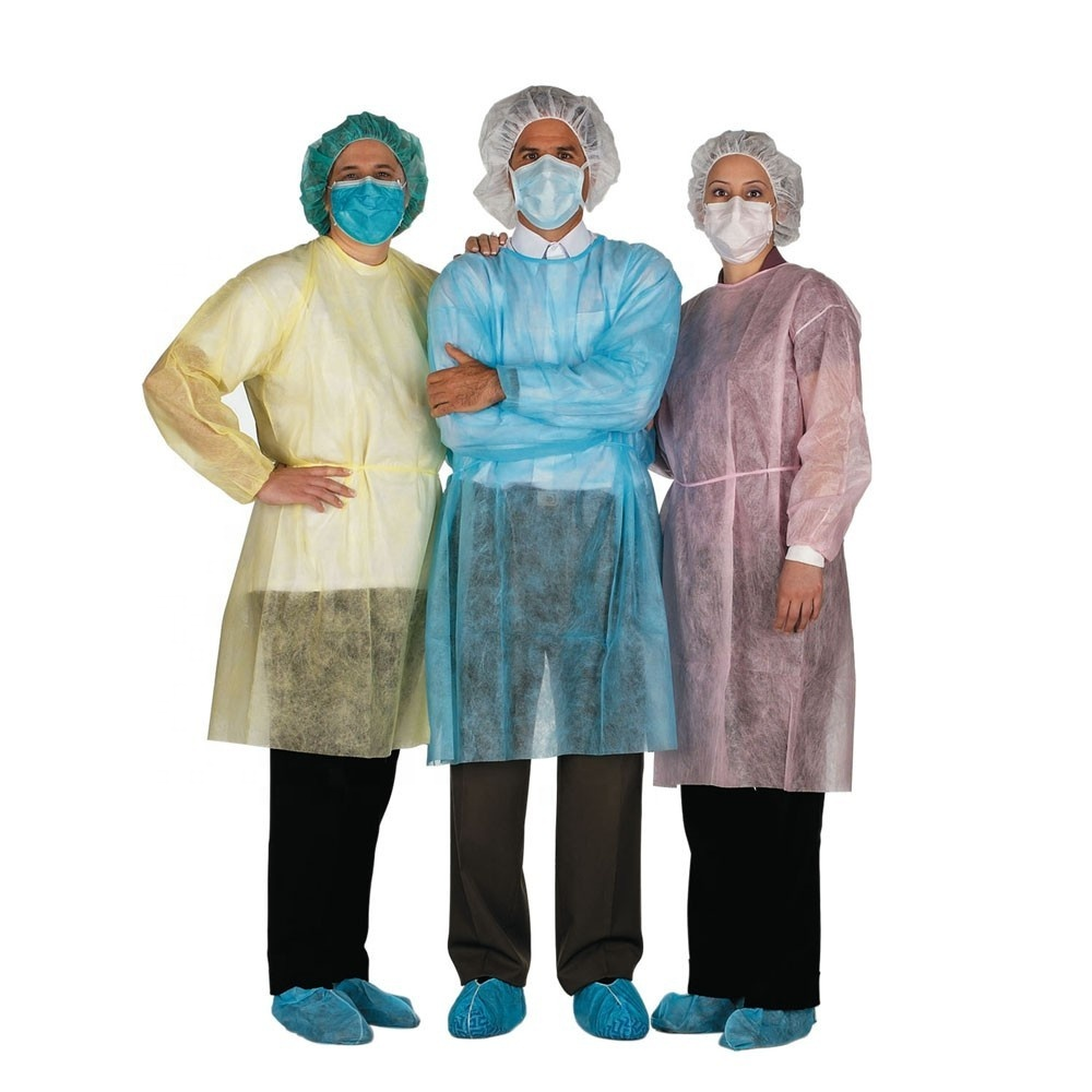 Medical Consumable PP Fabric Reinforced disposable surgical gowns
