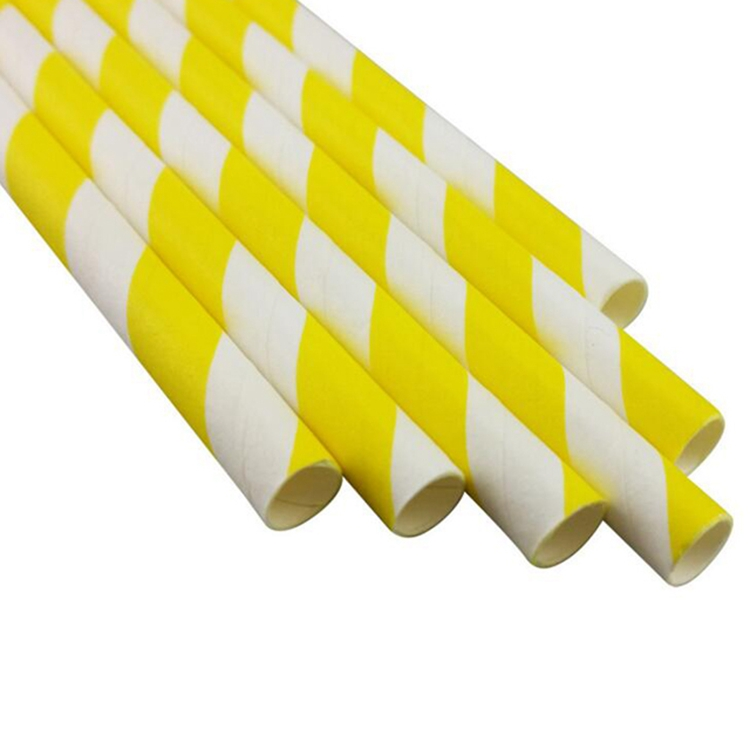 Halloween party supplies yellow striped paperhot drinking straw drink shop supplies colored paper drinking straw