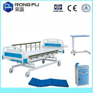 Beautiful Manual function Hospital beds(blue Color)