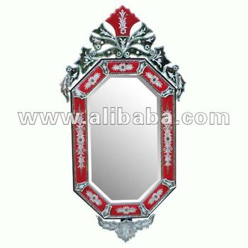 Venetian Mirror Octagon Red Buy Venetian Glass Mirrors Product On Alibaba Com