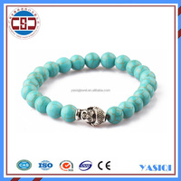 High quality top sell buddha bracelet turquoise stone jewelry,natural stone bracelet