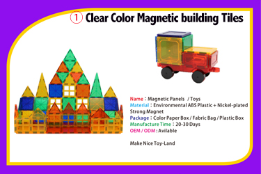 MNTL USA Best Sale Magnetic 3D Building Toys for Toddlers Kids Magnetic Tiles Block Clear Blocks Construction Playboards Shape
