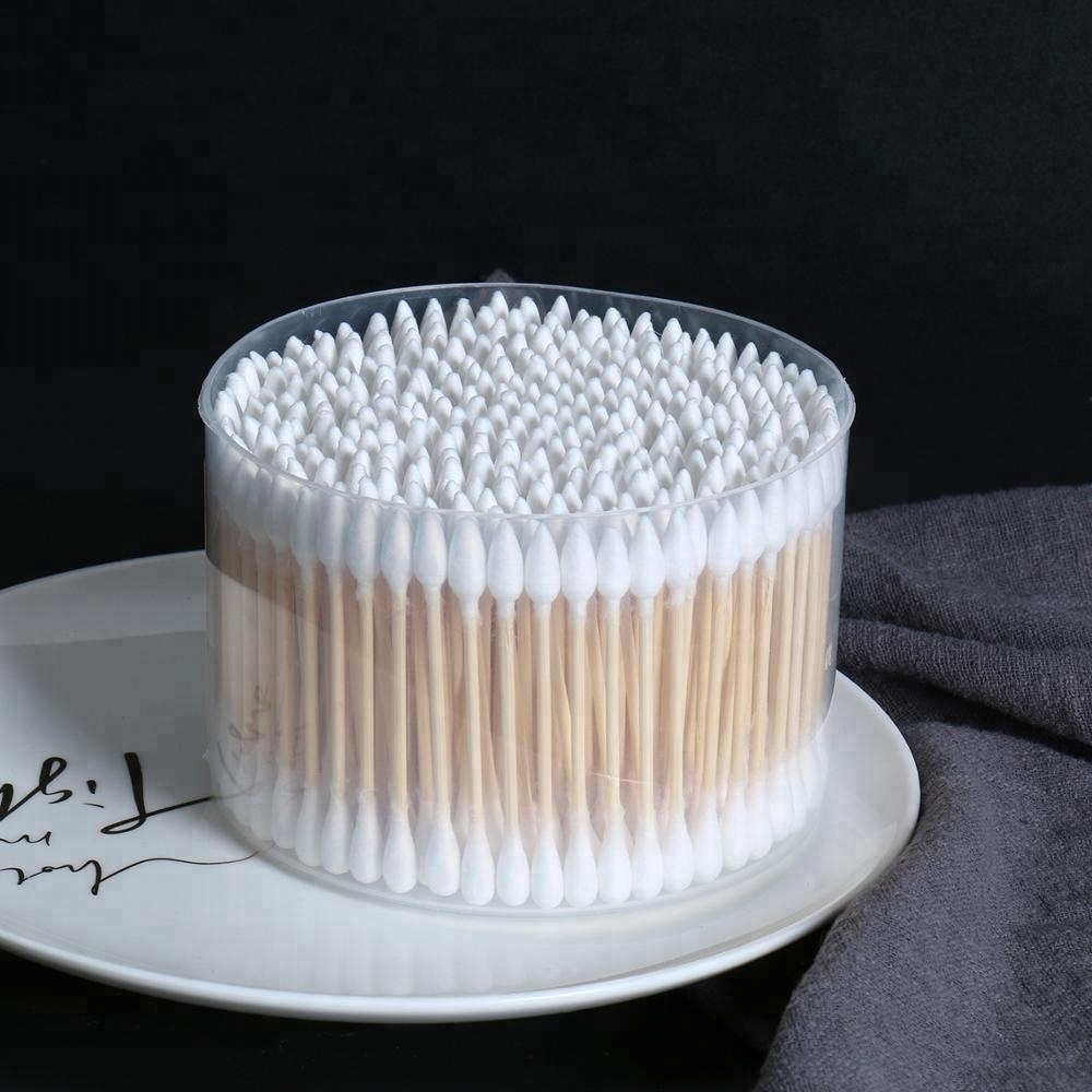 300pcs original big size double end extra absorbent bamboo stick cotton swabs