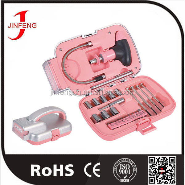 Useful competitive price ningbo oem lady pink tool kit
