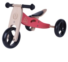 2-in-1 Kids Balans Training Houten Walking <span class=keywords><strong>Driewieler</strong></span> Met EVA Band