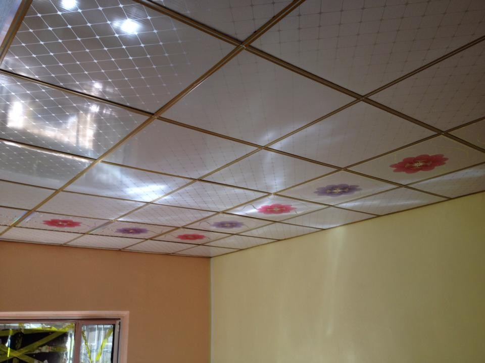 Quality pvc laminated gypsum ceiling board suspended