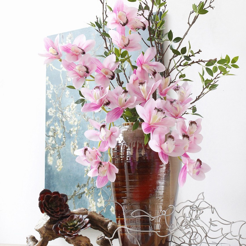 Real touch white delphinium silk flowers artificial flowers fob ningbo mightylinksfo