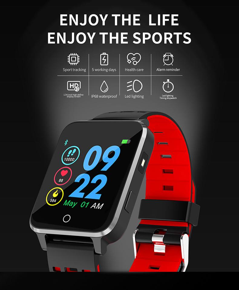 X9 Smart Watch Ultra Thin 1.54 inch Screen IP68 Waterproof Heart rate Monitor Stopwatch Cycling Swimming Multi-Sport Smartwatch