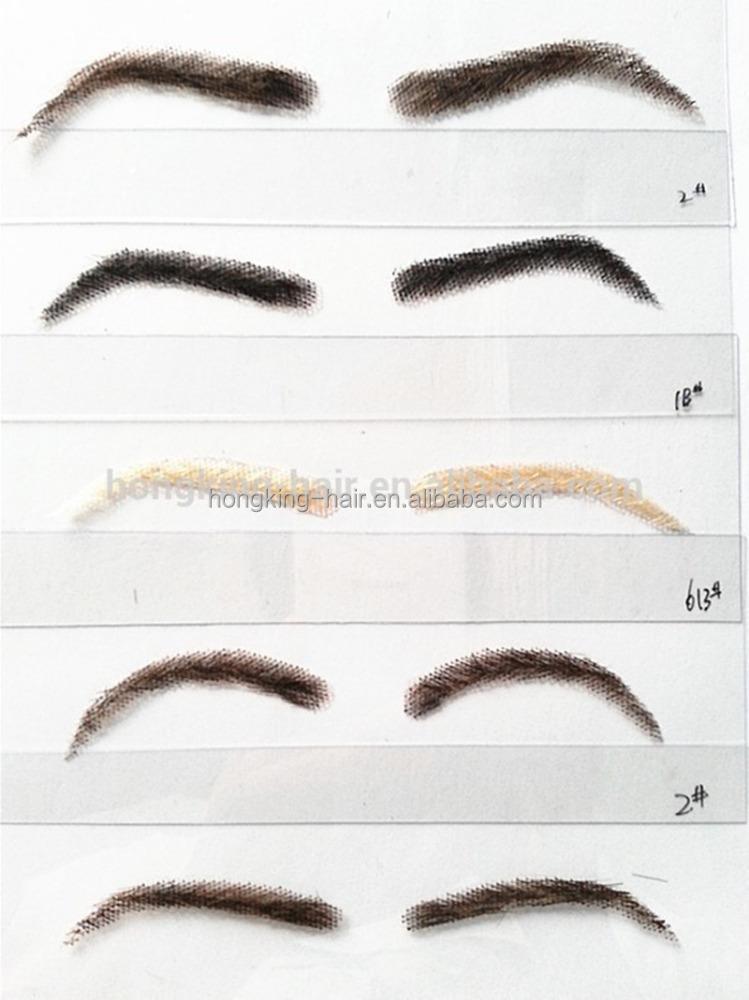 High Quality False Human Hair Eyebrow Fake Eyebrow Lace Eyebrow For