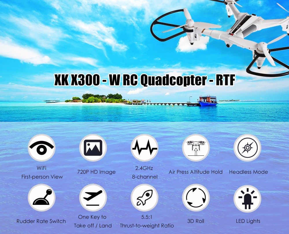 X300 W 2.4G Potical Positioning Wifi FPV RC Drone With 720P HD Camera RTF