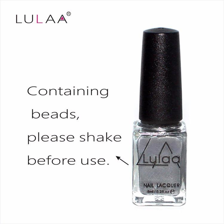 Lulaa High Quality 6ml Mirror Nail Polish & Base Gel Metal Silver ...