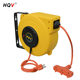 B retractable extension cord auto cable reel