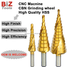 HSS Round shank step drill bits Spiral step drills power tools