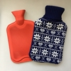wool material colourful design knitted bag cover for BS rubber hot water bottle for body warmer in cold season