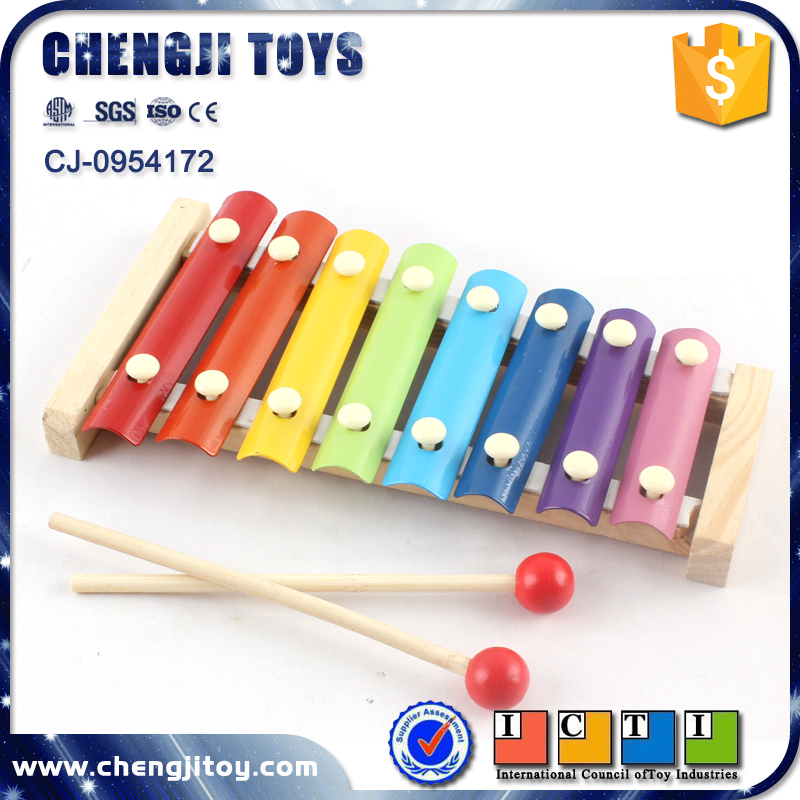 Musical instrument toy hand knock piano for kids wooden xylophone