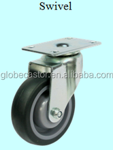 100 mm ,4 inch swivel silent rubber tpr caster wheel for trolleys,dolly,hand cart