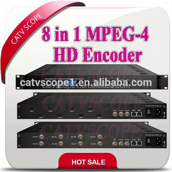 8 in 1 MPEG-4 AVC / H.264 HD Encoder CSP3218A
