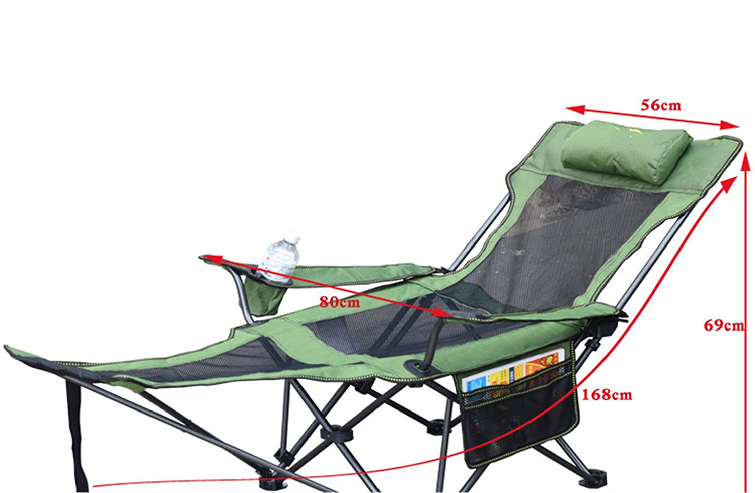 RFVBNM Multifunctional lunch break backrest recliner single napping bed outdoor fishing folding stool