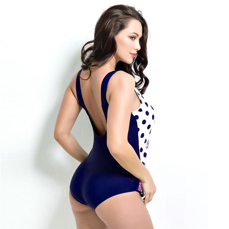 ab51d49e153fb 2018 Plus Size Swimwear Women Indoor Swimsuit May Beach Sexy Push Up  Swimming Suits Tankini Dress