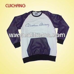 Sweatshirt fabric leather sleeve sweatshirt