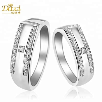Unique Square Diamonds Brass Volly Couple Rings For Couples Buy