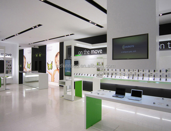 Mobile Phone Shop Decoration / Cell Phone Accessory Kiosk Display ...