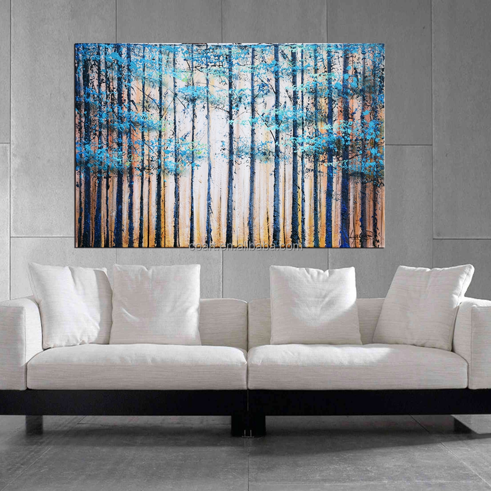 Beautiful scenery Tree oil painting on canvas in House bedroom