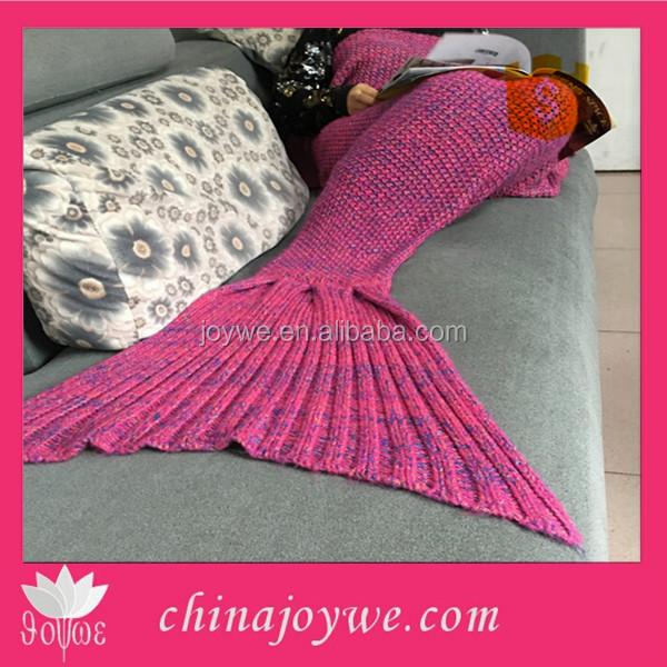 Moda Sirena Manta Crochet Patrón Artesanal Tejido Manta Crochet ...