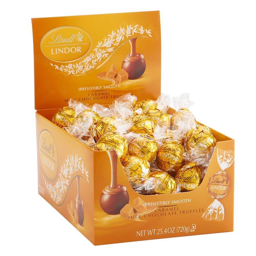 Lindt LINDOR Caramel Milk Chocolate Truffles 60 Count Box