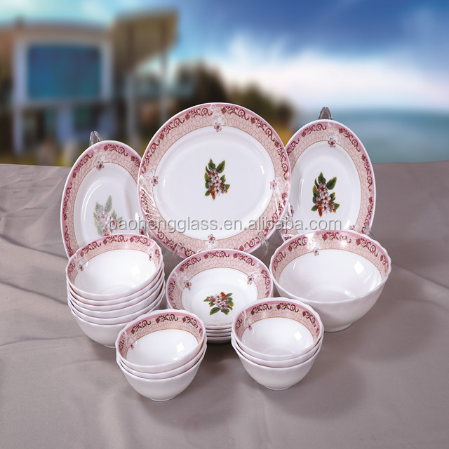 20PCS Opal Glassware Dinnerset Tableware French Tableware Middle East Tableware