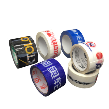 Branded waterproof colorful logo printed adhesive package box tape for carton sealing