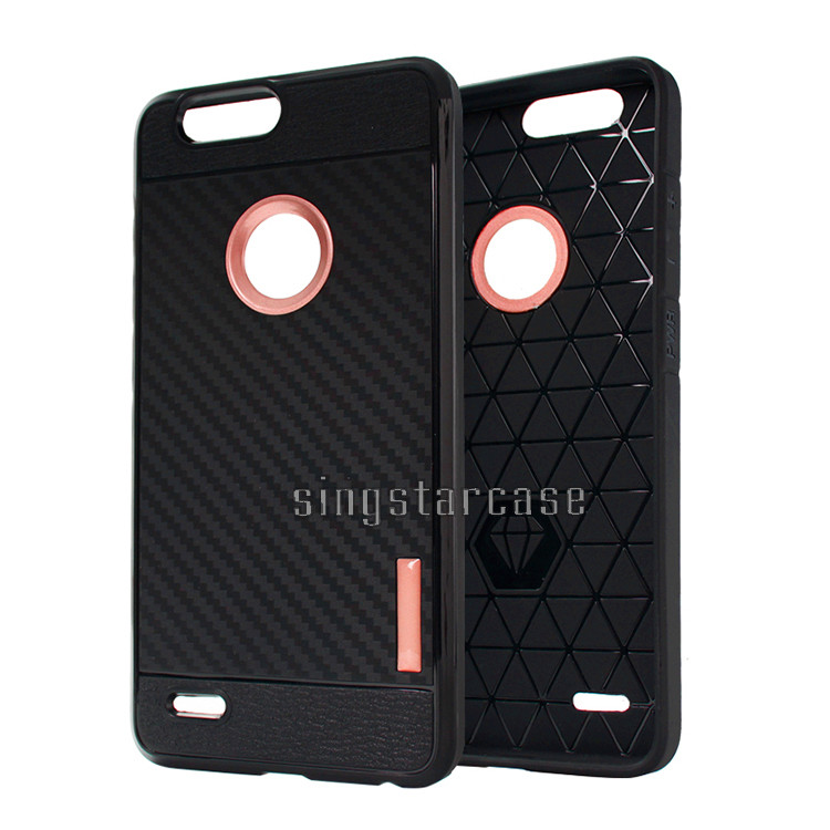 For ZTE Blade Vantage Case Durable Carbon Fiber TPU Phone Case For ZTE Blade Vantage