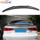 M4 V style carbon fiber rear trunk wings spoiler for Audi A3 S3 2013-2017 carbon fiber spoiler