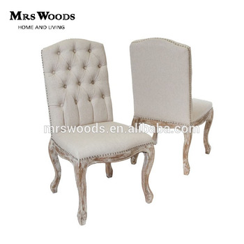Genial French Vintage Button Tufted Linen Dining Chair, Beige Linen Chair, Beige  Linen Dining Chair