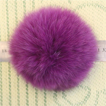 Balls low price Wholesale Colorful faux Fluffy Fur Pom Poms