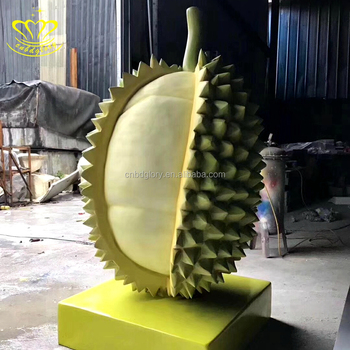 Outdoor Garden Decor Handmade Fiberglass Resin Fruit Durian Sculpture