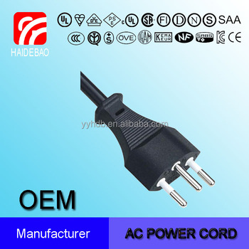 Switzerland SEV Three Wire Power Cord Cable Types
