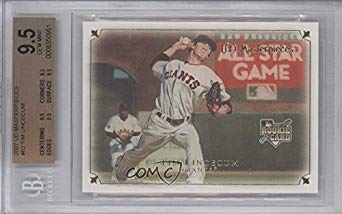 Tim Lincecum BGS GRADED 9.5 (Baseball Card) 2007 UD Masterpieces - [Base] #82