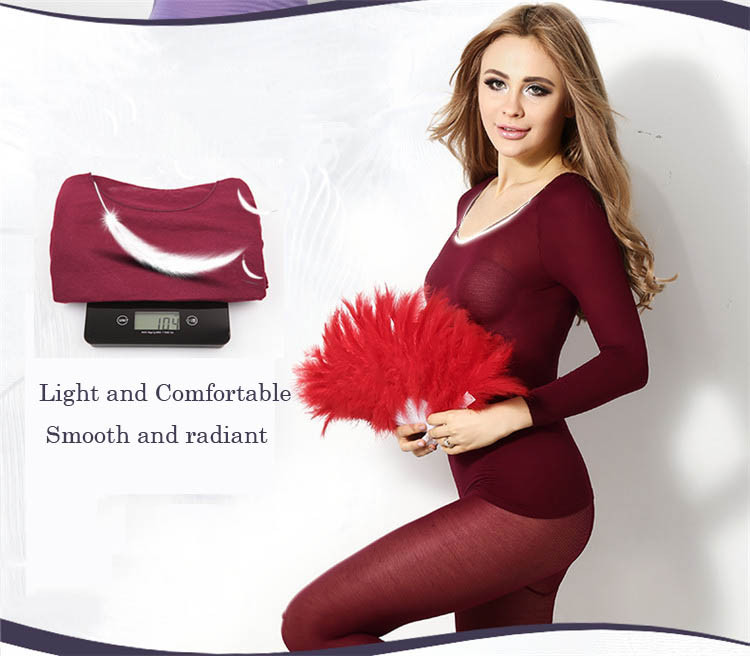 Winter Thermal Underwear Women 37 Degree Constant Temperature Thermal Clothes set