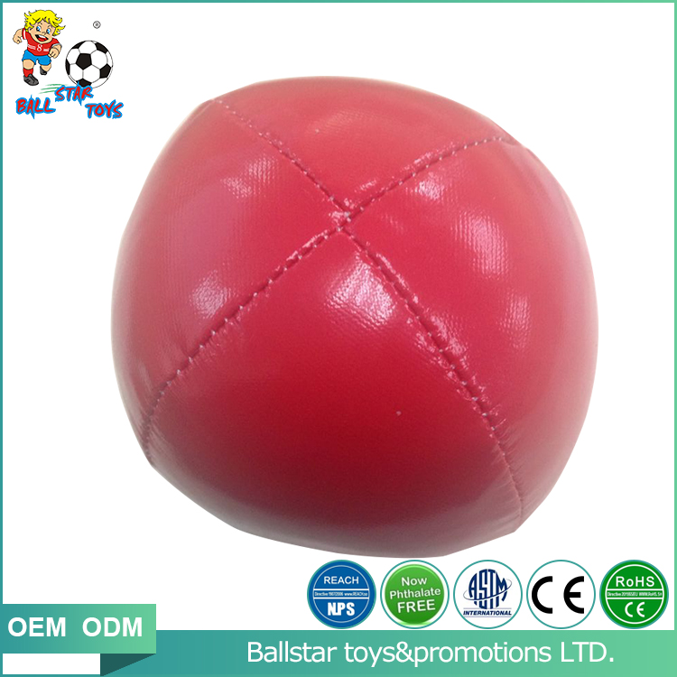 2inch Professional leather cotton stuffed light soft juggling ball toys for baby
