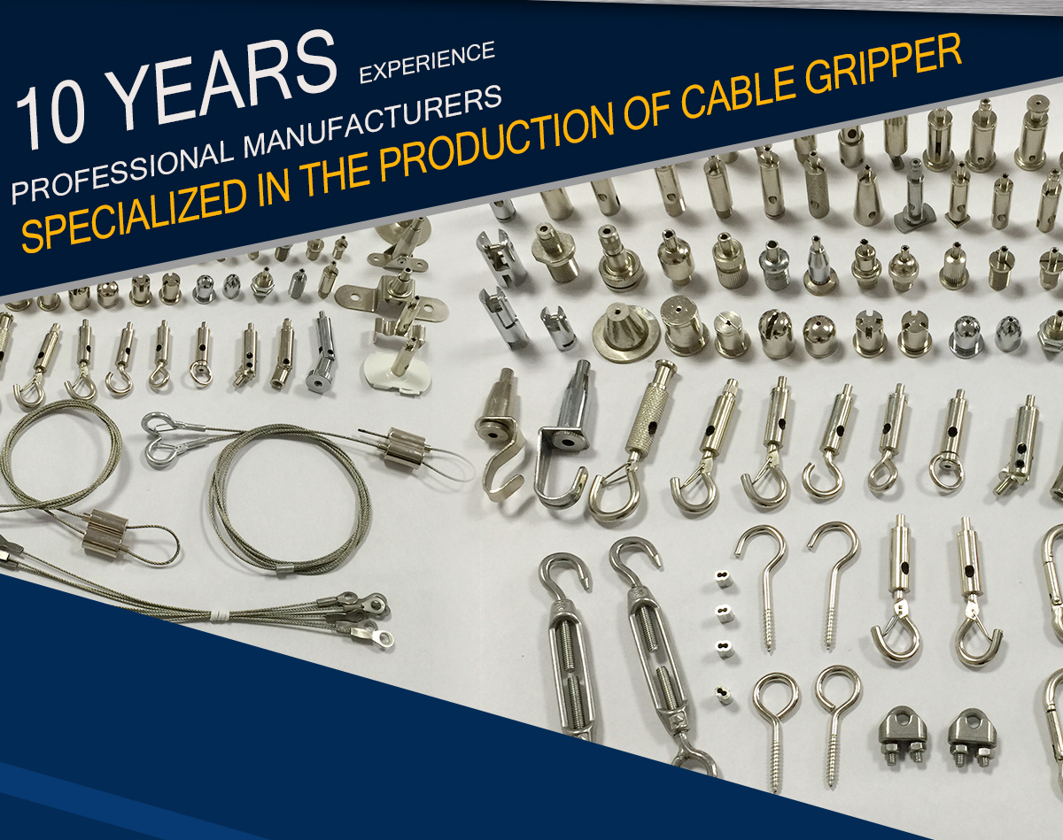 Guiping Hengda Hardware Factory - Suspenion kit, Cable gripper