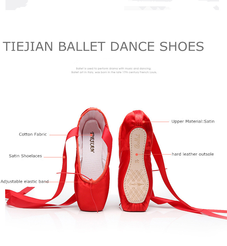 Sales Satin Ballet Pointe Shoes Professional Girls Ladies Ballerina Dance Shoes With Ribbons